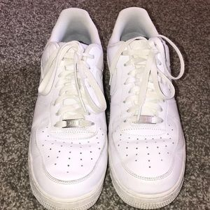 Nike White Air Force 1 s shoes